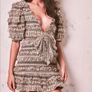 NWT Loveshackfancy Lena Tweed Dress